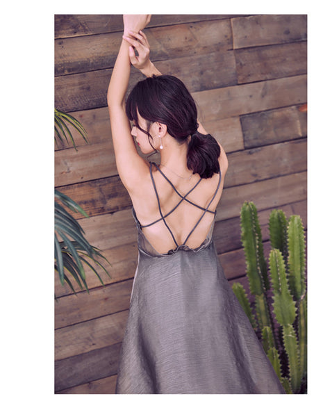 Backless Organza Beach Dress CODE: mon756