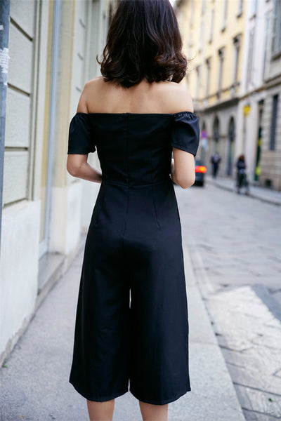 Boat Neck Wide-leg Strapless Jumpsuit CODE: mon815