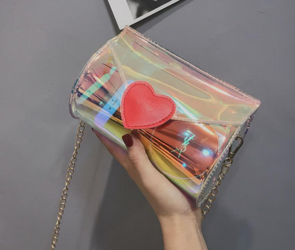 transparent love Messenger bag CODE: mon1081