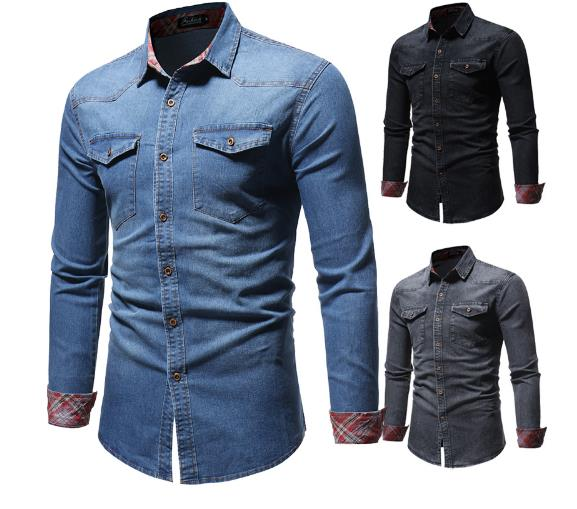 Men's Slim Denim  Shirt CODE: mon1123