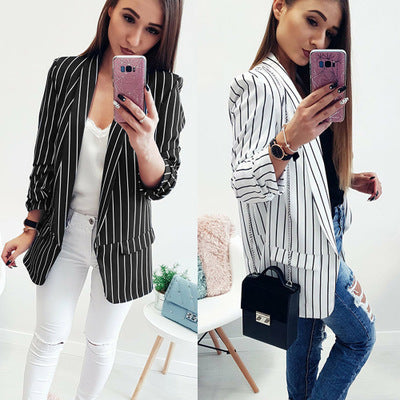 Casual Striped Jacket/Coat CODE: mon1126
