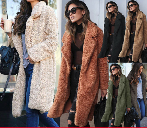 Lapel pocket long coat Winter Wear CODE: mon1173