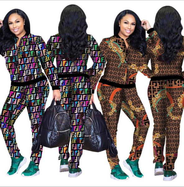Printed sports 2piece set suit CODE: mon1203