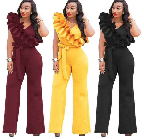 Thick ruffled sleeveless jumpsuit CODE: mon1221