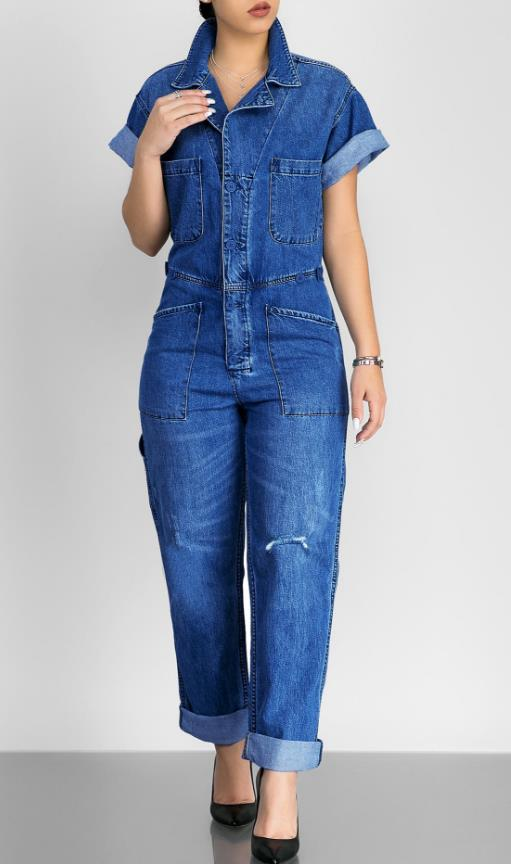 Fashion denim casual jumpsuit CODE: mon832