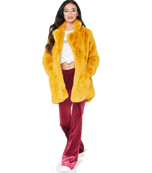 loose fringed fur coat CODE: mon837