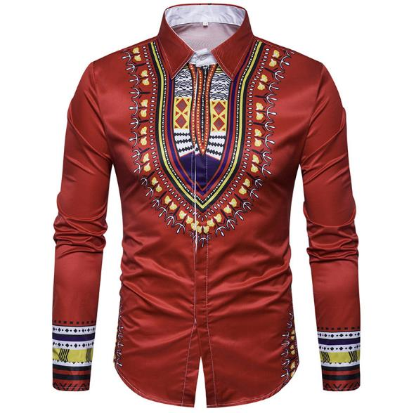men's large-size casual long-sleeve shirt CODE: mon890