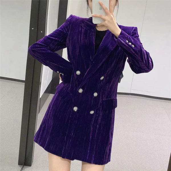 Office Ladies Corduroy Blazer Coat CODE: KAR914