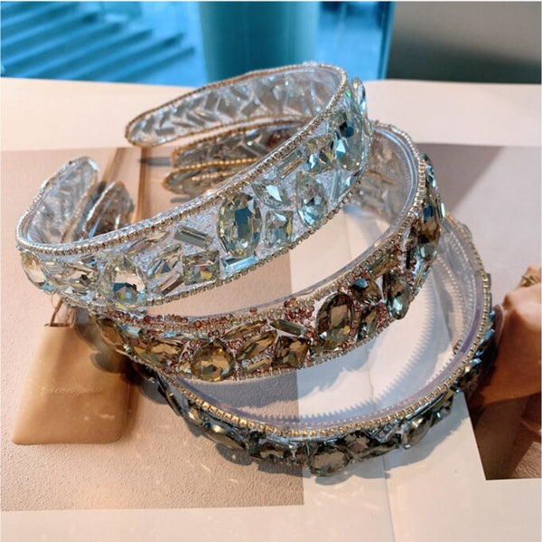 Retro Rhinestone Bling Hairbands CODE: KAR920