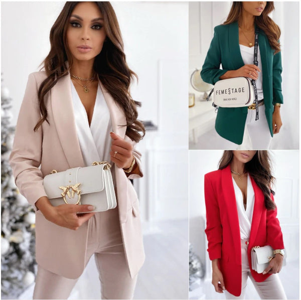 Open Stitch Elegant Coat Blazer Set CODE: KAR946
