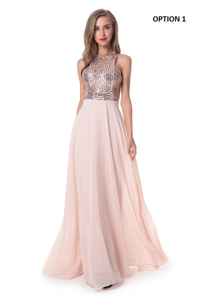 O-neck Sleeveless Sequined Bohemian Long Dress CODE: KAR964