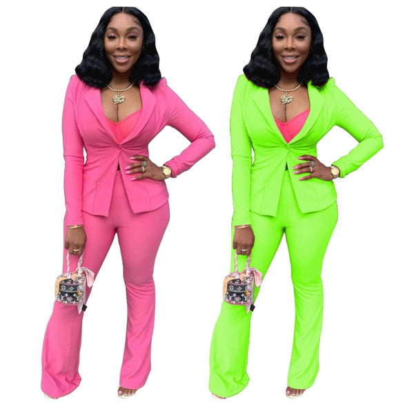 Two Piece Set Formal Blazer And Pants Matching Sets Office Lady Work Wear CODE: KAR387