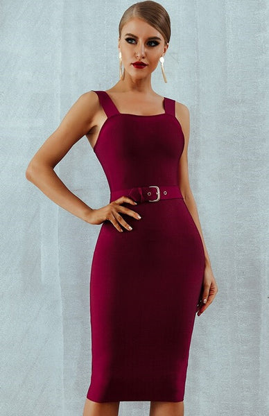 Spaghetti Strap Knee-Length Party Dress CODE: KAR482