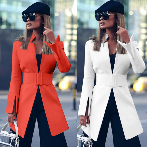 Fashion Autumn And Winter New Long Sleeve Waistband Suit coat CODE: KAR530