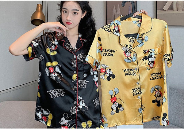 Pajamas ladies summer mickey mouse short-sleeved nightgowns CODE: KAR647