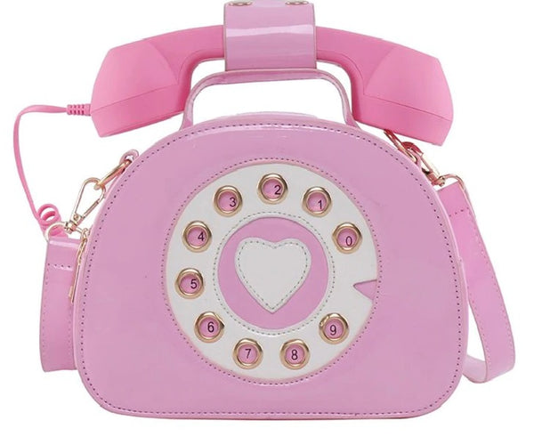 Girl Telephone Shaped Shoulder Bag PU Leather Shopping  CODE: KAR731