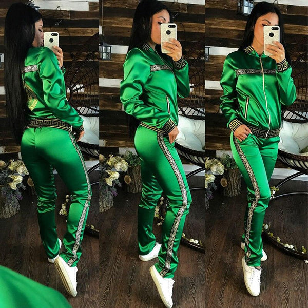 New Printing Sports Leisure Suit Piece Two Piece Set  CODE: KAR769