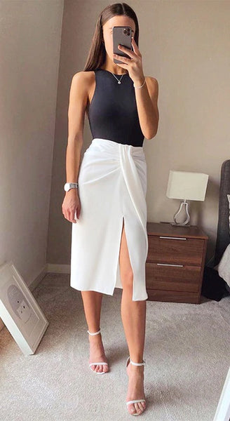 Midi High Waist Skirts Women CODE: KAR773