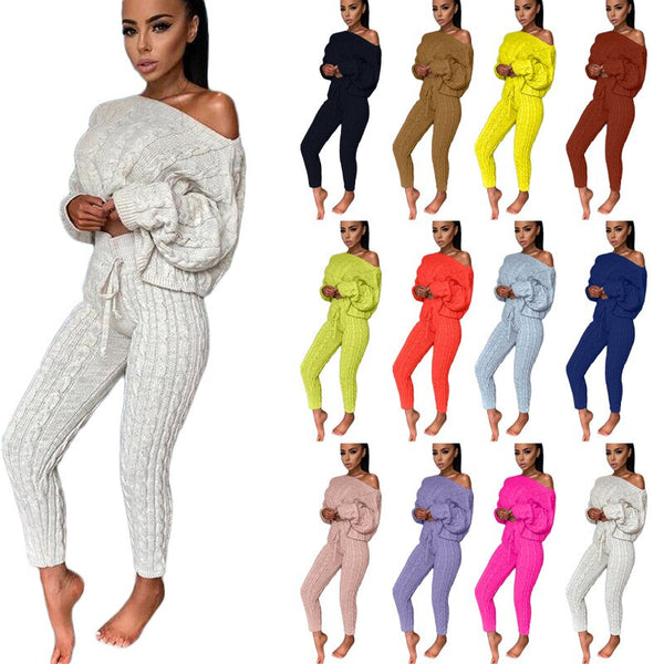 Winter Sweater Costume Pants Sets Women CODE: KAR831