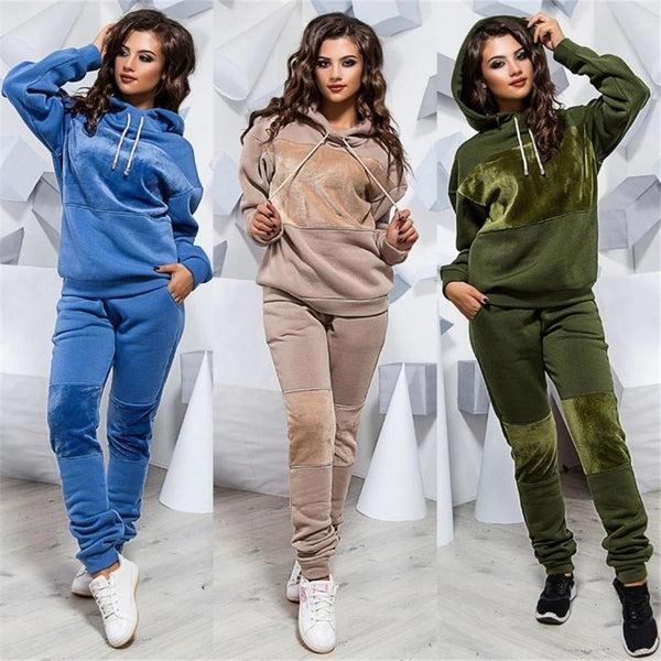 Two Piece Set Tracksuit Women Winter Hoodies Pants Suit Set CODE: KAR861