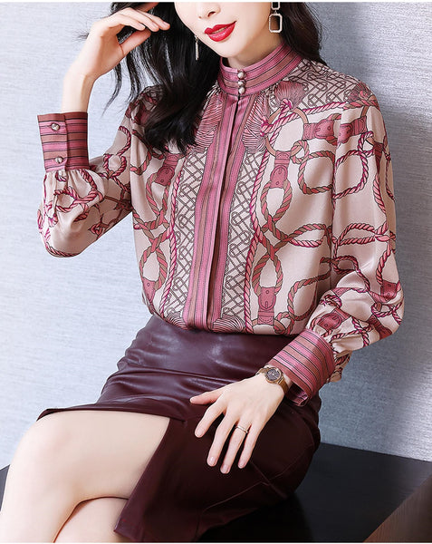 Printed heavy shirt women long-sleeved western style CODE: KAR901