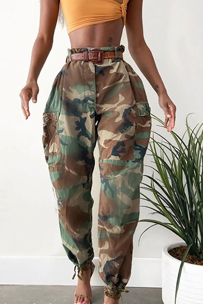 Pencil Pants Women Fashion High Waist Camouflage Print CODE: KAR902