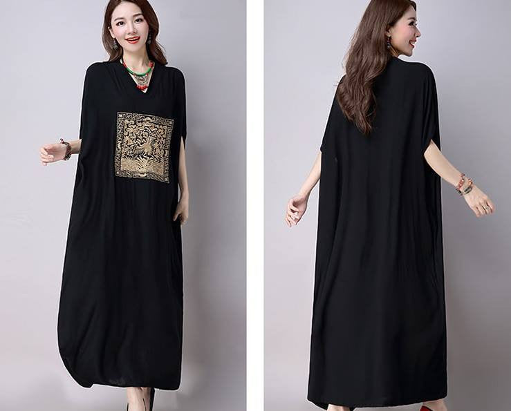 Monrsh V-Neck Long Dress CODE:MON129
