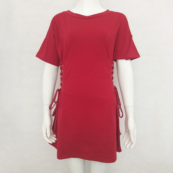 Spliced Pullovers Mini Dress CODE: mon1111