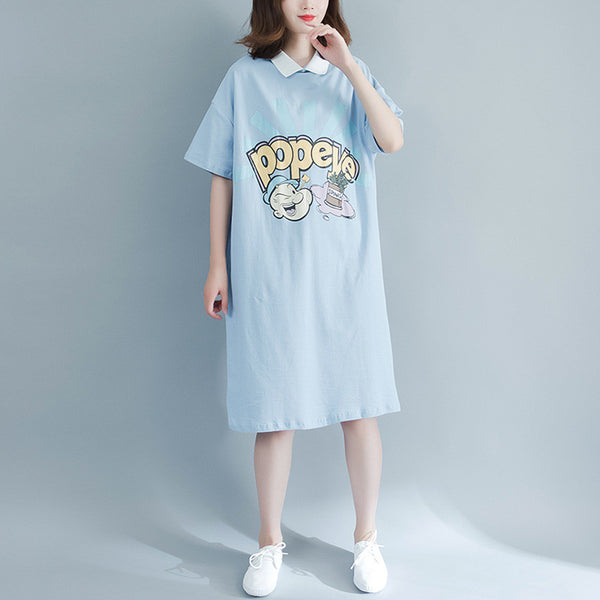 Big Size Turndown Collar Dress CODE: mon1135