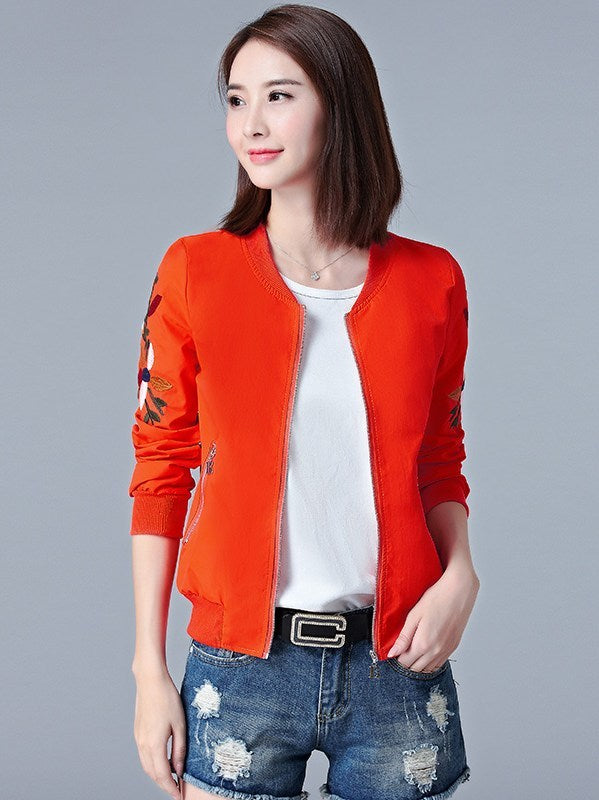 Embroidery Loose Sunproof Outwear Coat Jacket CODE: mon1151