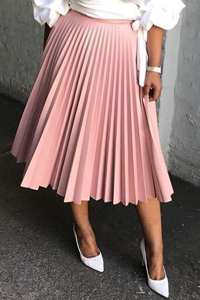 Pleated Empire Waist Skirt CODE: mon1191