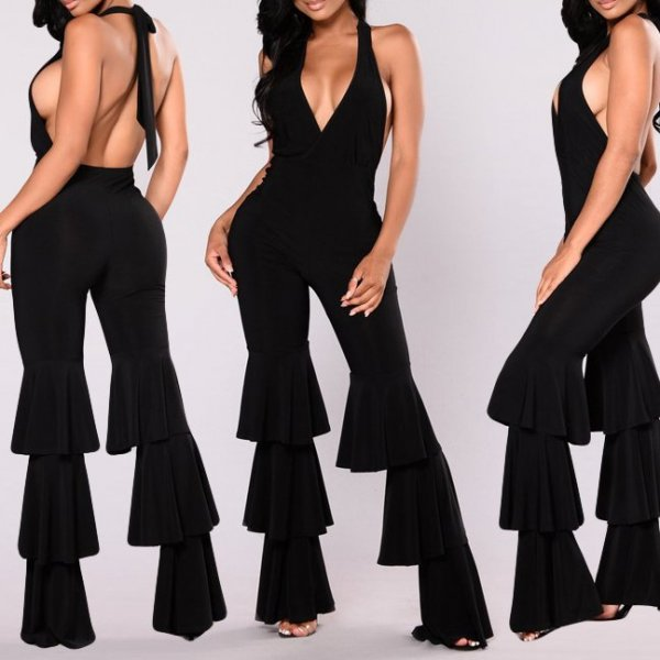 Sexy Backless Sexy High Waist Jumpsuit CODE: mon1199