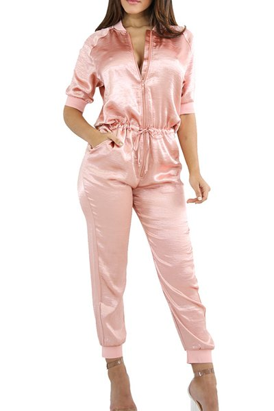 High Waist Loose Round Neck Jumpsuit CODE: mon1200