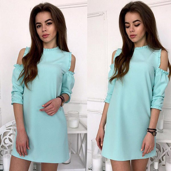 Casual Cold Shoulder Short dress CODE: mon1227