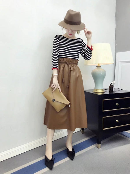 Casual Big Hem Fashionable Drawstring Skirt CODE: mon1296