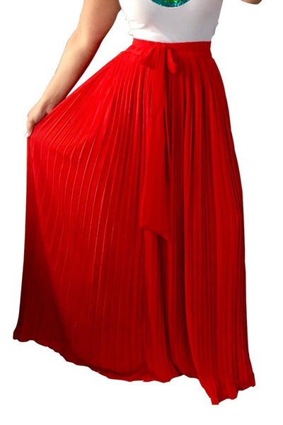 Empire Waist Pleated Big Hem Skirt CODE: mon1315