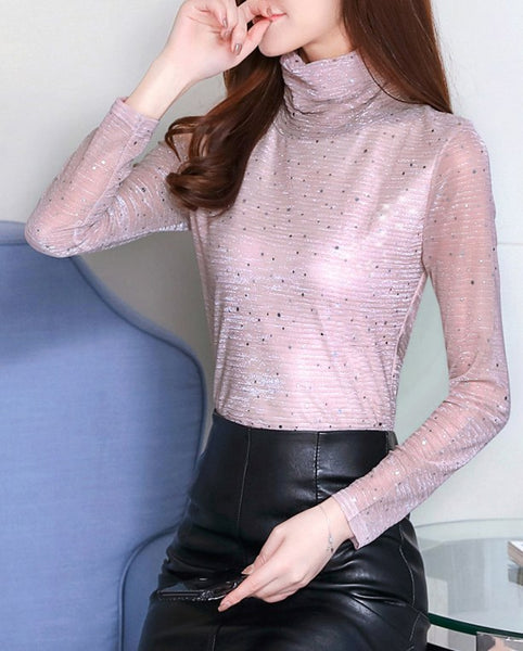 Long Sleeve Solid Velvet T-shirt CODE: mon1366