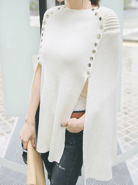 PulloversFashion Spliced Round Neck Pullover Knit Sweater CODE: mon1367