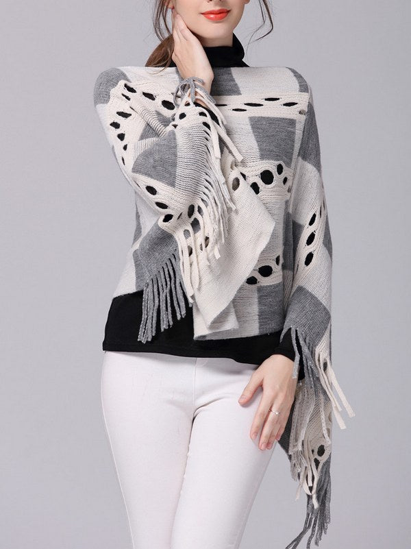a2741615ecb7 ... Tassel Fringe Long Bat Sleeve Big Size Pullover Knit Sweater CODE   mon1375
