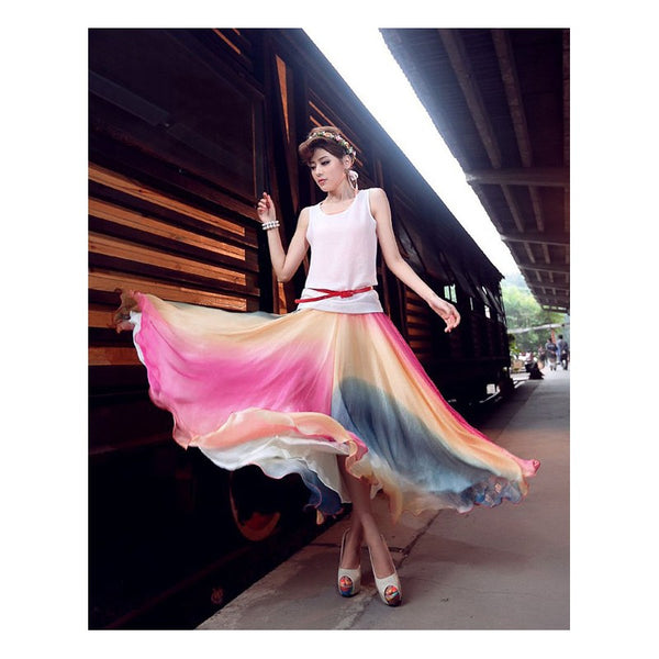 Casual Chiffon Skirt CODE: READY375