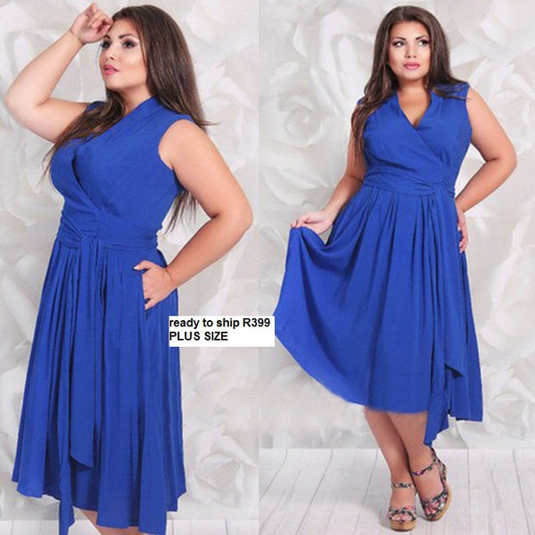 Casual Chiffon Plus size Dress CODE: READY399