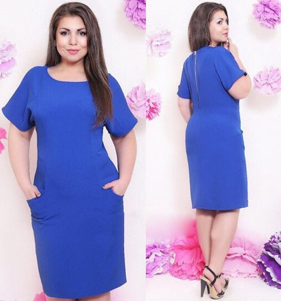 Casual plus size Straight Dress CODE: READY401