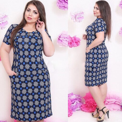 Casual Straight Printed plus size dress CODE: READY460