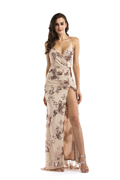 Sexy Suspension Deep V-Neck Flip-Flop Dress CODE: READY590