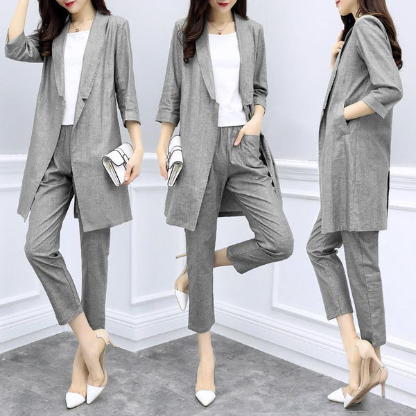 cotton and linen suit jacket CODE: READY620