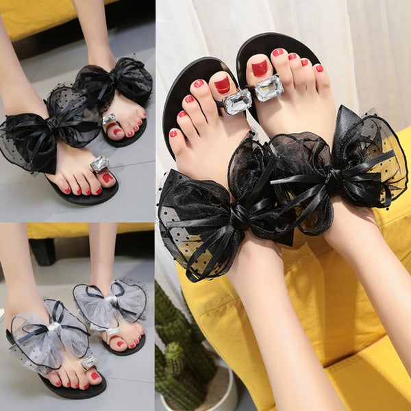 Bow top Flats Slippers SIZE:36 CODE: READY649