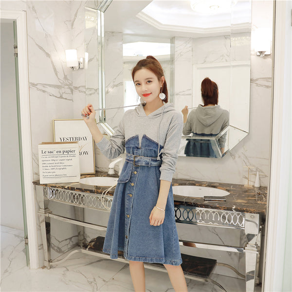 Hooded Denim Dress CODE: READY672