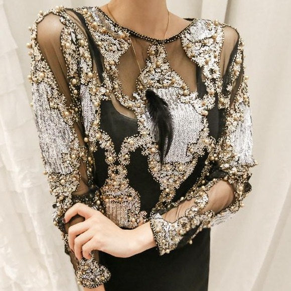 Exclusive Diamond Work Top CODE: READY743