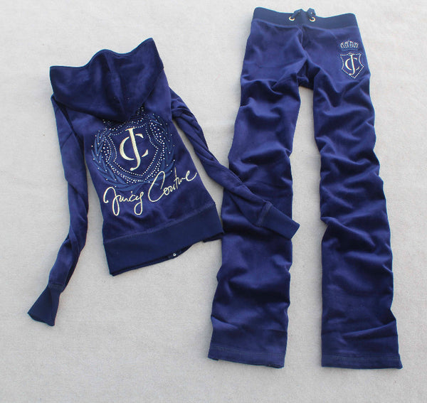 Hot drilling Inspired velvet suit long-sleeved casual velvet sports Set CODE:  READY772