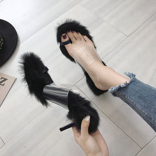 Fur high heel stiletto Sandals CODE: READY831